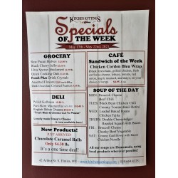 Specials of the Week
