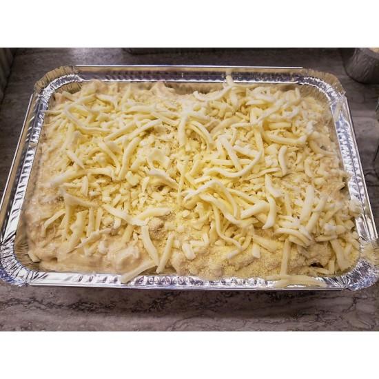Homemade Frozen Cheesy Chicken Lasagna
