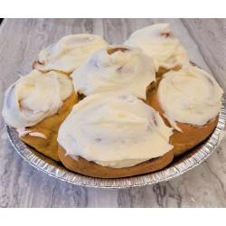 Homemade Cream Cheese Frosted  Pumpkin Cinnamon Buns