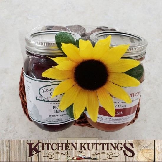 Pickled Beets & Salsa Gift Basket