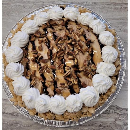 Caramel Turtle Ice Cream Pie