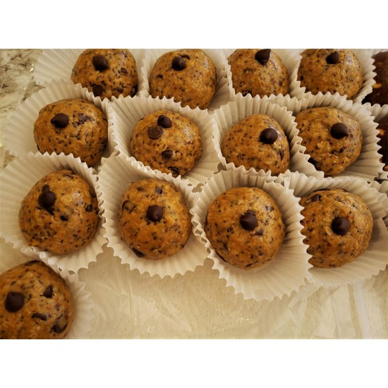Homemade Chocolate Chip Protein Balls 75 g.